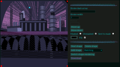 Screenshot of a pixel art editor