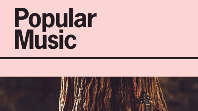 Cover of an academic journal called Popular Music