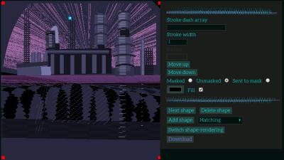 Screenshot of a dark-themed image-editing app